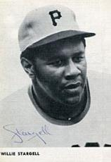 Willie Stargell Autograph/Signed 3x5 postcard