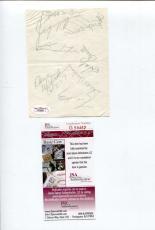 Willie Stargell Jerry May Al McBean Bill Virdon Pit Pirates Signed Autograph JSA