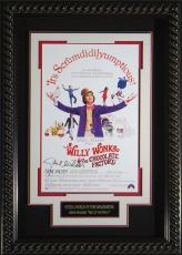 Willie Wonka - Gene Wilder Autographed 11x17 Framed Poster