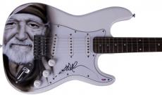 Willie Nelson Autographed Signed Country Guitar & Proof PSA AFTAL