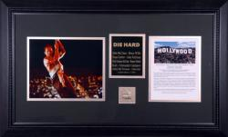 WILLIS, BRUCE (DIE HARD) FRAMED PHOTO w/HLYWD SIGN (LTD ED)
