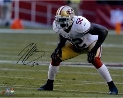 Patrick Willis San Francisco 49ers Autographed 16'' x 20'' Hands On Knees Photograph