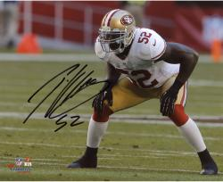 Patrick Willis San Francisco 49ers Autographed 8'' x 10'' Hands On Knees Photograph