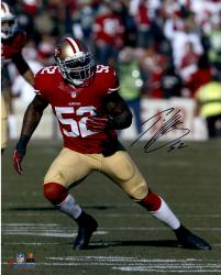 Patrick Willis San Francisco 49ers Autographed 16'' x 20'' Vertical Running Photograph
