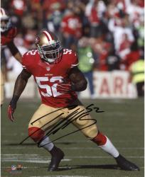 Patrick Willis San Francisco 49ers Autographed 8'' x 10'' Vertical Running Photograph