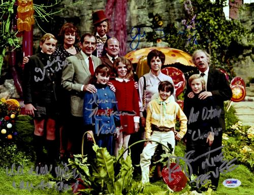 "Willy Wonka and the Chocolate Factory Autographed 11"" x 14"" Cast Photograph - PSA/DNA COA"