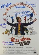 Willy Wonka Cast (6) Gene Wilder Signed Authentic 12x17 Movie Poster PSA/DNA