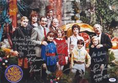 Willy Wonka Cast (6) Signed Autographed 12x17 Photo Gene Wilder PSA/DNA #4A93848