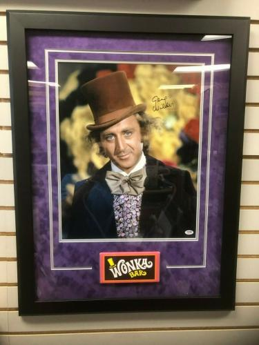 "Willy Wonka (Gene Wilder), ""Autographed"" 16x20 Photo, Deluxe Framed (PSA)"