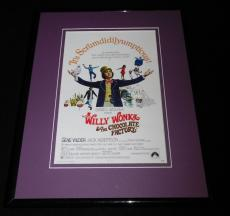 Willy Wonka & The Chocolate Factory Framed 11x14 Poster Display Gene Wilder
