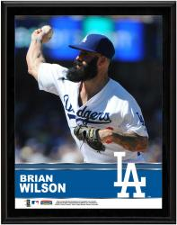 Brian Wilson Los Angeles Dodgers Sublimated 10.5'' x 13'' Plaque - Mounted Memories