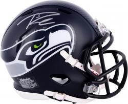 Russell Wilson Seattle Seahawks Autographed Riddell Speed Mini Helmet