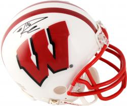 Russell Wilson Wisconsin Badgers Autographed Riddell Mini Helmet