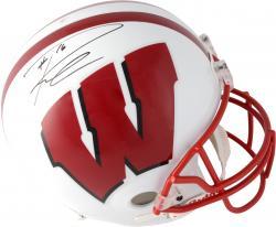 Russell Wilson Wisconsin Badgers Autographed Riddell Replica Helmet
