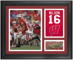"""Russell Wilson Wisconsin Badgers Framed 15"""" x 17"""" Campus Legend Collage"""