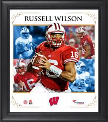 """Russell Wilson Wisconsin Badgers Framed 15"""" x 17"""" Core Composite Photograph"""