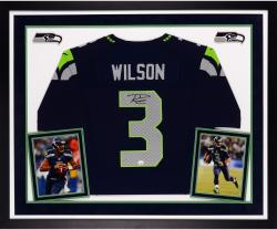Russell Wilson Autographed Seahawks Elite Jersey - Deluxe Framed