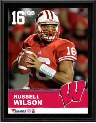 """Russell Wilson Wisconsin Badgers Sublimated 10.5"""" x 13"""" Plaque"""