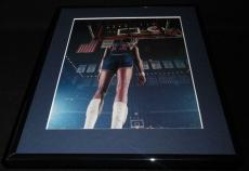 Wilt Chamberlain Framed 11x14 Photo Display 76ers at Boston Garden
