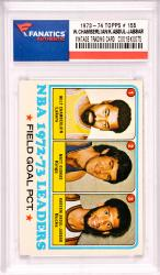 Wilt Chamberlain/ KareemAbdul-Jabbar Los Angeles Lakers & Milwaukee Bucks 1972-73 Topps #155 Card
