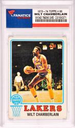Wilt Chamberlain Los Angeles Lakers 1972-73 Topps #80 Card
