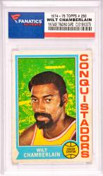Wilt Chamberlain Los Angeles Lakers 1974-75 Topps #250 Card