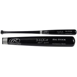 Dave Winfield Autographed Black Big Stick Bat - HOF 01