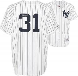 Majestic Dave Winfield New York Yankees Autographed Jersey - White Pinstripe