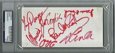 Wings Paul McCartney Group Signed Autographed Album Page +6 PSA/DNA Authentic