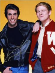 Henry Winkler Autographed 8'' x 10'' with Ron Howard Photograph - Mounted Memories