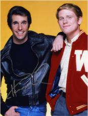 "Henry Winkler Autographed 8"" x 10"" with Ron Howard Photograph"