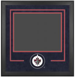 "Winnipeg Jets 16"" x 20"" Horizontal Deluxe Suede Setup Frame with Team Logo"