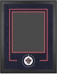 "Winnipeg Jets 16"" x 20"" Vertical Deluxe Suede Setup Frame with Team Logo"