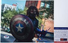WINTER SOLDIER!!! Sebastian Stan Signed CAPTAIN AMERICAN 8x10 Photo #2 PSA/DNA