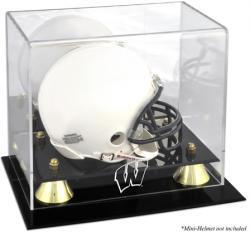 Wisconsin Badgers Golden Classic Logo Mini Helmet Display Case