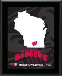 WISCONSIN BADGERS (STATE) 10x13 PLAQUE (SUBL) - Mounted Memories