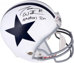 Jason Witten Dallas Cowboys Autographed Riddell Replica Throwback Helmet with America's Team Inscription - Mounted Memories