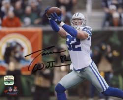 """Jason Witten Dallas Cowboys Autographed 8"""" x 10"""" Reaching Catch Photograph"""