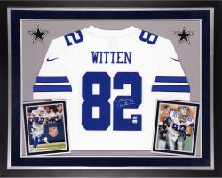 Jason Witten Dallas Cowboys Autographed Deluxe Framed Nike Limited White Jersey