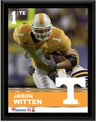"""Jason Witten Tennessee Volunteers Sublimated 10.5"""" x 13"""" Plaque"""