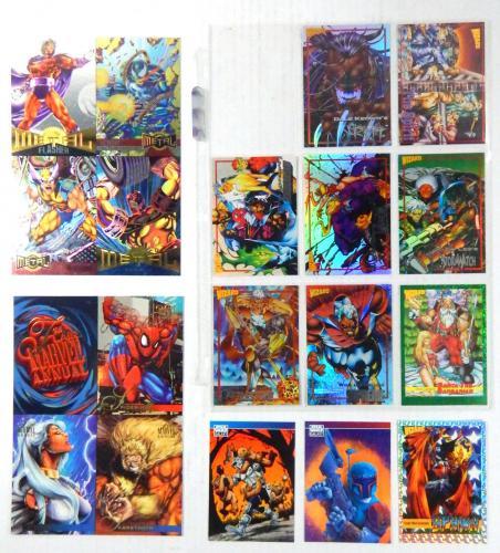 Wizard Marvel Metal Promo Cards ~1992 McFarlane #'d Card + (2) Star Wars Galaxy