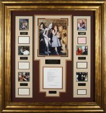 Wizard of Oz Cast SIGNED Vintage Movie Display with The Witc