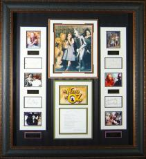 Wizard of Oz Cast SIGNED Vintage Movie Display