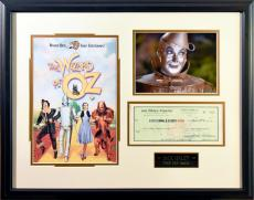 Wizard of Oz Collage Framed/ Signed by TINMAN JACK HALEY w/JSA