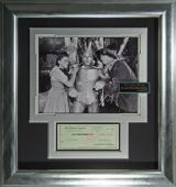 Wizard of Oz Jack Haley Autographed Framed Tin Man Display