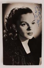 Wizard of Oz – Judy Garland Signed 3×5 Sepia Photo (JSA)