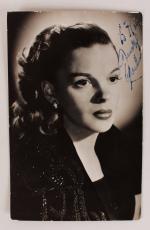 Wizard of Oz – Judy Garland Signed 3×5 Sepia Photo – JSA Full LOA