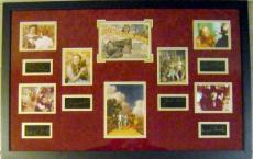 Wizard of Oz Matted & Framed Masterpiece 22x34 6 main cast laser signatures with mini movie photos