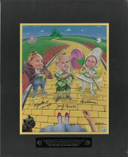 Wizard of Oz Munchkins signed 11x14 Matted Photo (black) 3 sig-Mickey Carroll/Jerry Maren/Karl Slover LTD- Beckett Holo #A84656
