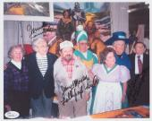 Wizard Of Oz Munchkins Signed Photo Mickey Carroll Jerry Maren & Karl Slover Jsa